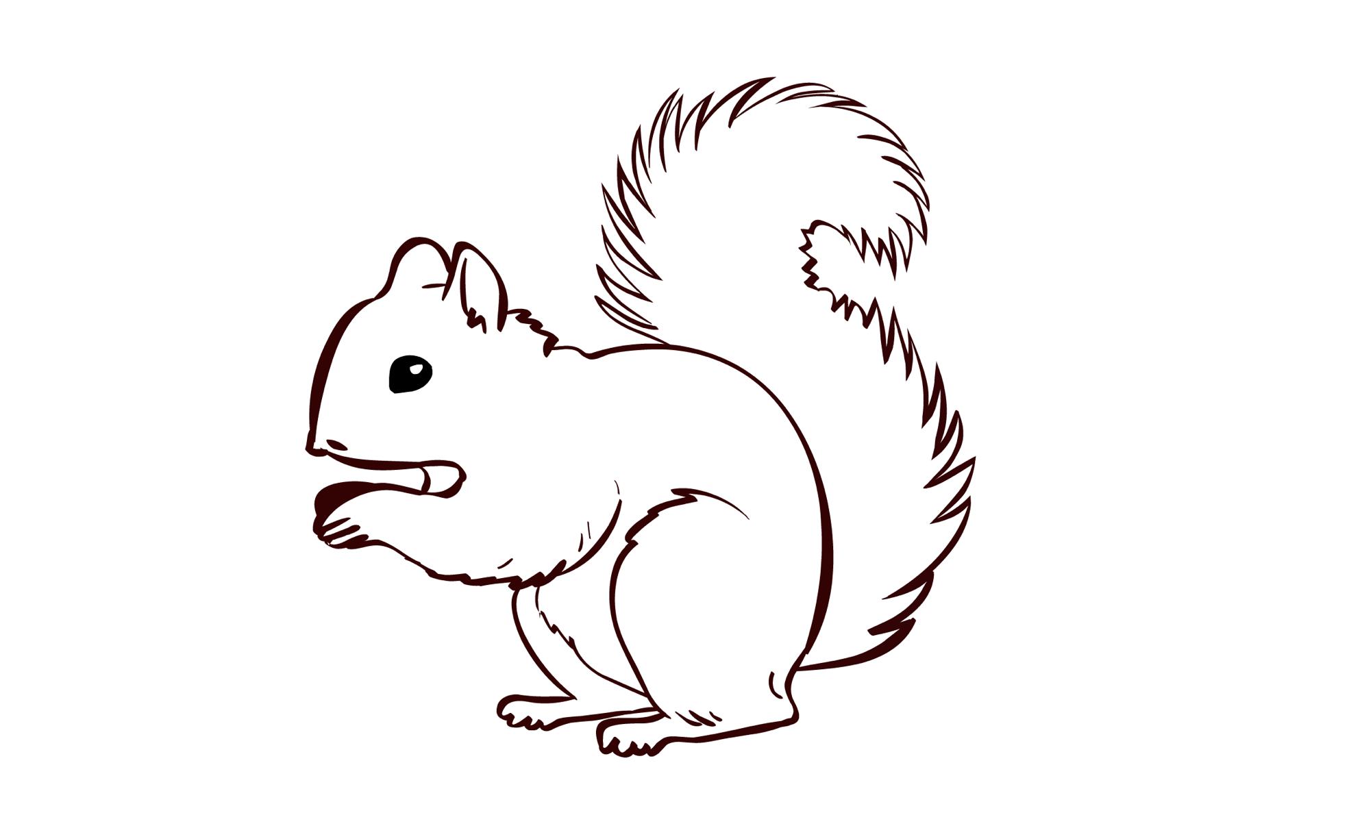 Tolle Süsse Eichhörnchen Malvorlagen Galerie - Beispiel ...