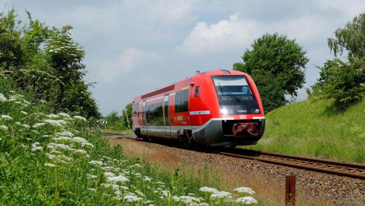 """Der """"Wal"""": Triebwagen der Baureihe VT 641 der """"Nordthüringenbahn"""" © DB AG/Barteld Redaktion & Verlag"""
