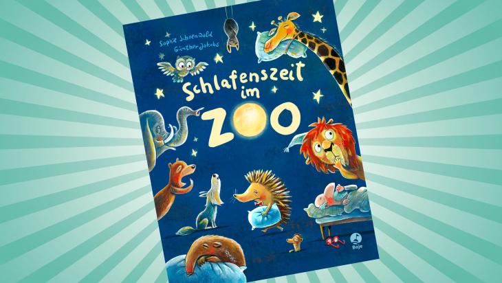 Schlafenszeit im Zoo; Cover: Boje Verlag