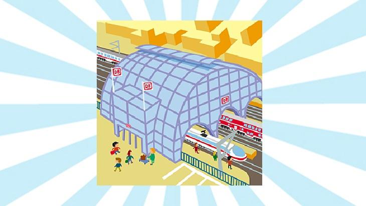 Bahn-Memo-Karte Huptbahnhof Berlin; Bild: DB AG /Titus Ackermann