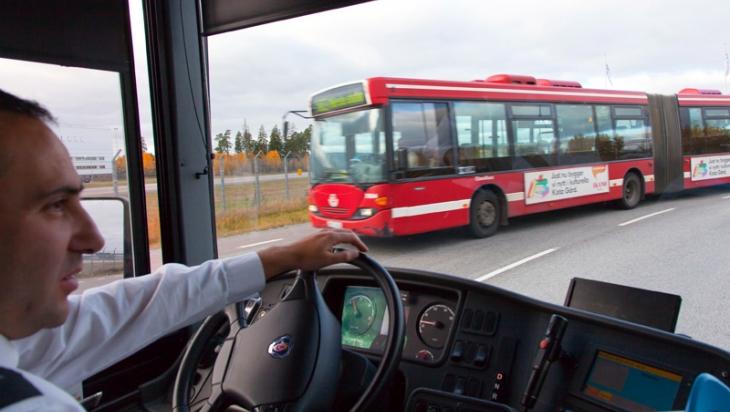 Busfahrer in Dänemark © DB AG/Bartlomiej Banaszak