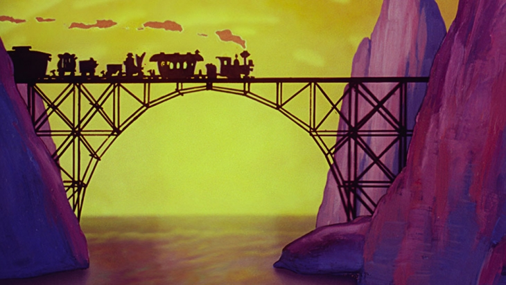 Dumbo, der fliegende Elefant, ist mit dem Wanderzirkus im Zug unterwegs © Disney