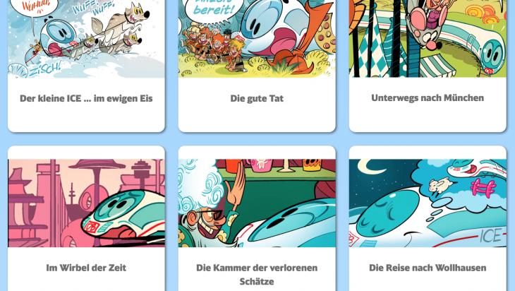 Comics des kleinen ICE; Bild: DB AG