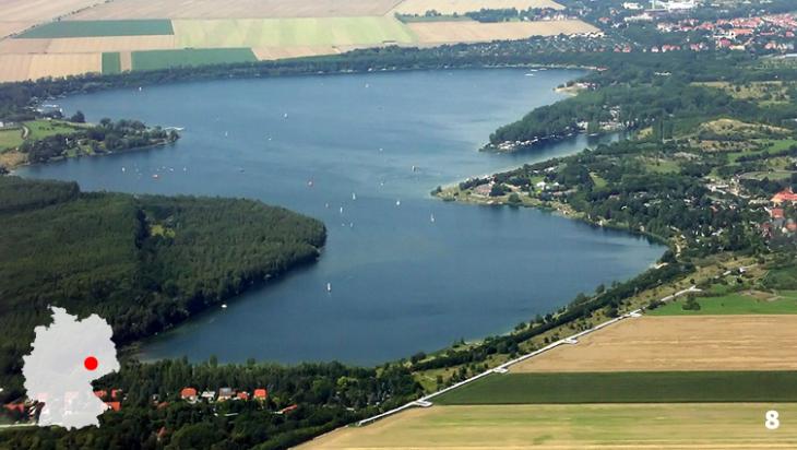 Der Klukwitzer See - Mal was ganz anderes / Foto:Martin Geisler, German language Wikipedia, Kulkwitzer See Leipzig (Richtung Norden), CC BY-SA 3.0