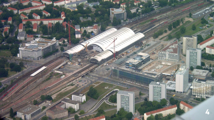 Der Dresdner Inselbahnhof; Bild: Henry Mühlpfordt