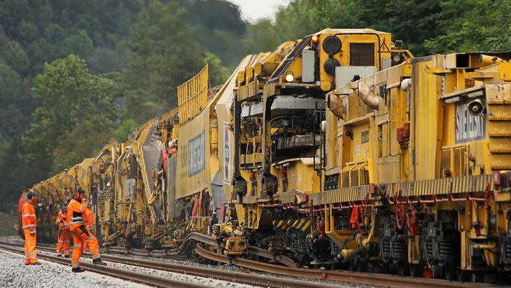 Gleisbauzug im Einsatz @ DB AG