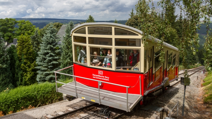 Die Oberweißbacher Bergbahn; Bild: DB AG/ Kai Michael Neuhold