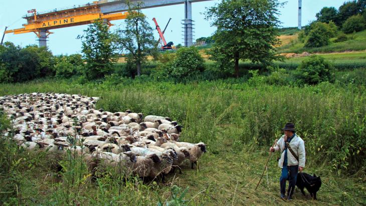 Brückenbau; Bild: DB AG/ Frank Kniestedt
