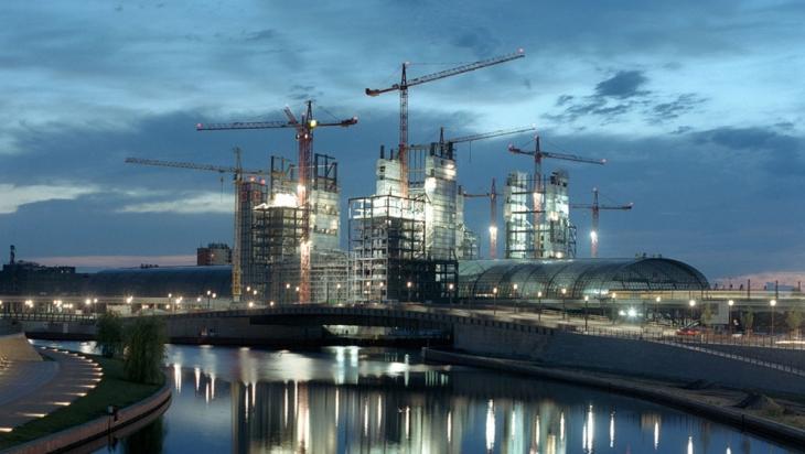 Der Berliner Hauptbahnhof im Bau im Jahr 2005 © DB AG / Max Lautenschläger