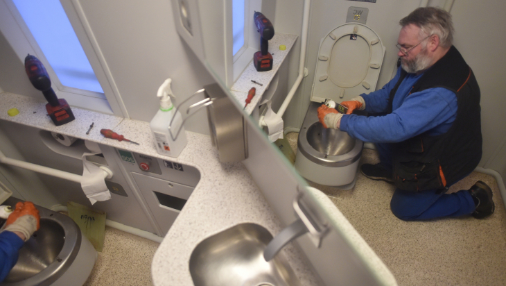 Toilette im ICE; Bild: DB AG/ Oliver Lang (DB72702)
