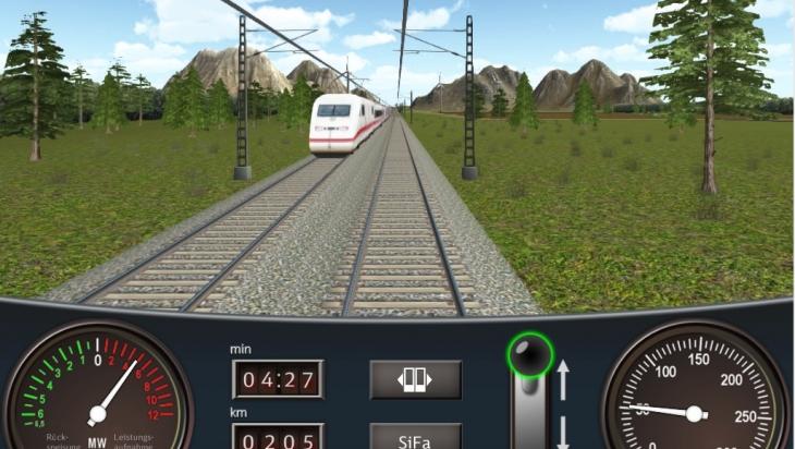 Fahrsimulator-App; Bild: DB AG (DB93111)