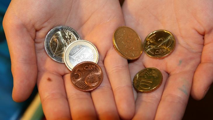 Alle Münzen werden nach Sorten getrennt im Automaten gesammelt © DB AG