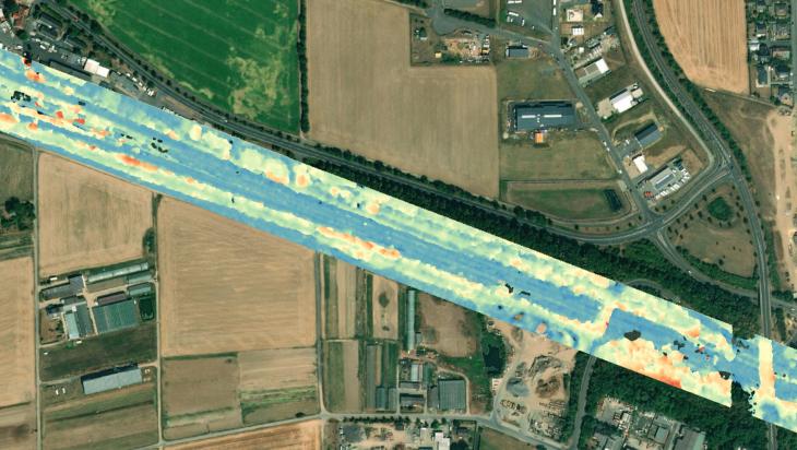 Karte aus dem Weltall; Bild: DB AG / LiveEO