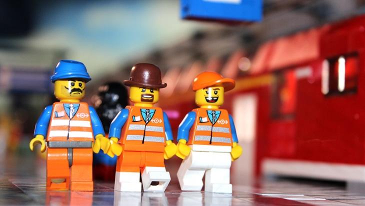 LEGO® Bauarbeiter legen los © LEGOLAND® Discovery Centre Berlin