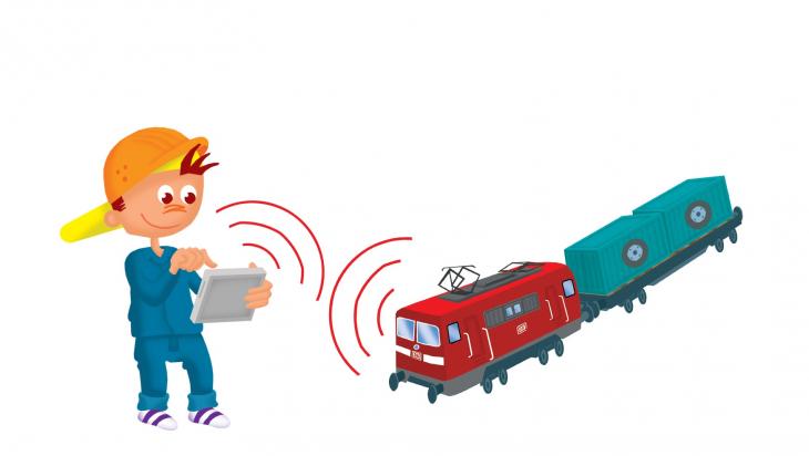 Güterverkehr bei der Bahn; Grafik Titus Ackermann
