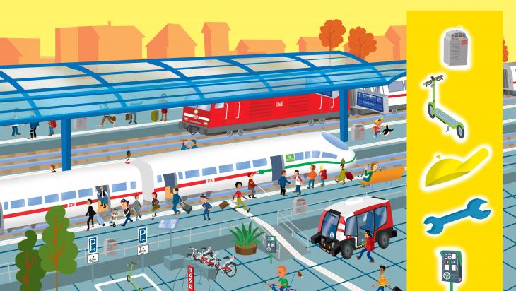 Viel los am Bahnhof; Bild: DB AG/Titus Ackermann