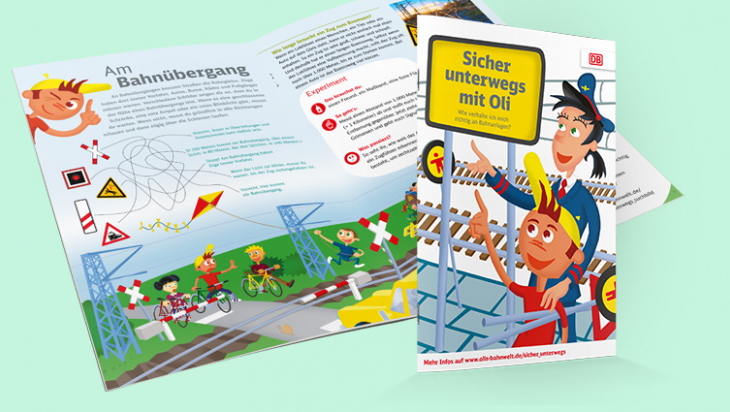 Wissensheft Sicher unterwegs mit Oli; DB AG/Grafik: Titus Ackermann