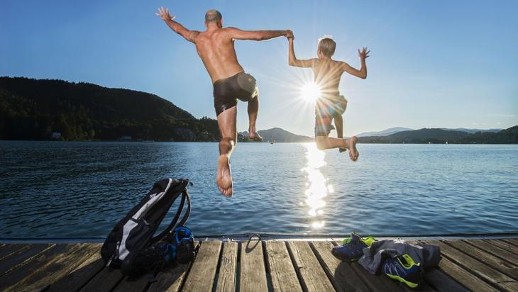 Sprung in den Wörthersee © Kärnten Werbung, Steinthaler