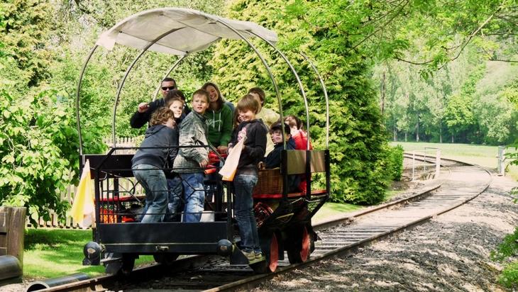 Unterwegs mit der Hebeldraisine © Erlebnisbahn Ratzeburg