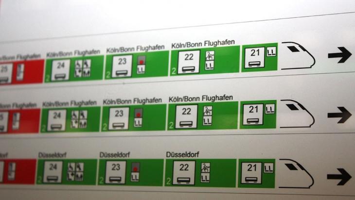 Detail auf dem Wagenreihungsplan mit Wagen 22 © DB AG
