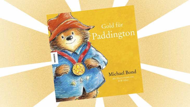 Kinderbuch: Gold für Paddington / Cover: Knesebeck