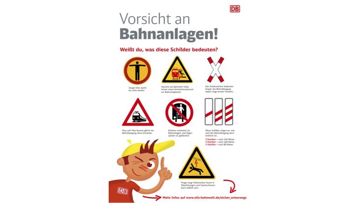 Poster Schilder an Bahnanlagen / Grafik: DB / Titus Ackermann