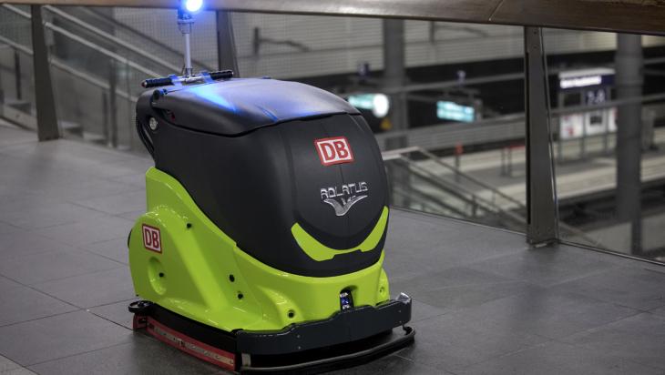 Reinigungsroboter; Bild: DB AG / Pablo Castagnola