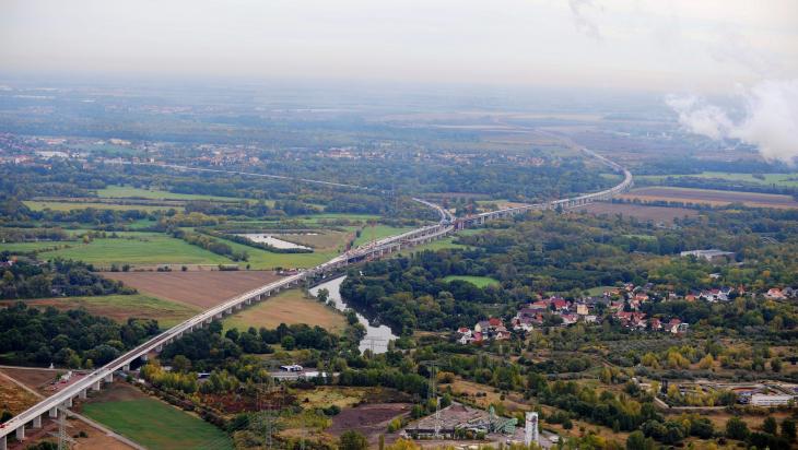 Saale-Elster-Talbrücke; Bild: DB AG/ Frank Kniestedt