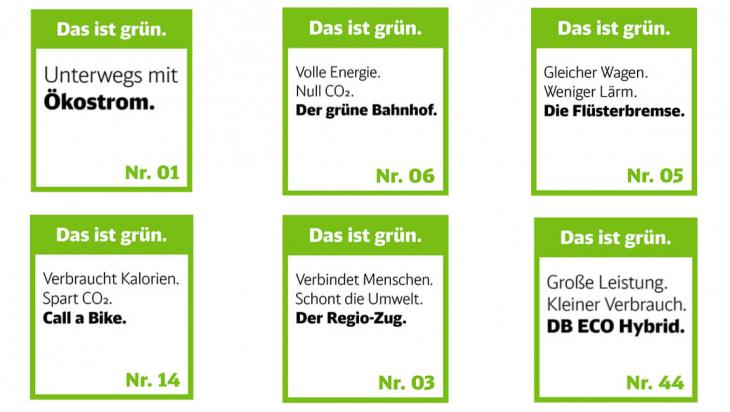 Das ist grün. / Bild: DB AG