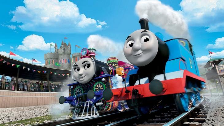 Thomas, die kleine Lokomotive mit Ashima, der hübschen Lok aus Indien © Mattel