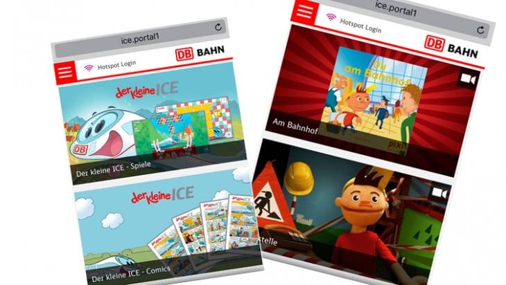 Im ICE-Portal gibt Oli-Filme und Spiel mit dem kleinen ICE; Bild: DB AG