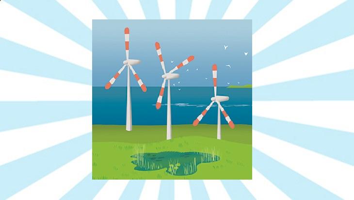 Bahn-Memo-Karte Windenergie; Bild: DB AG/ Titus Ackermann