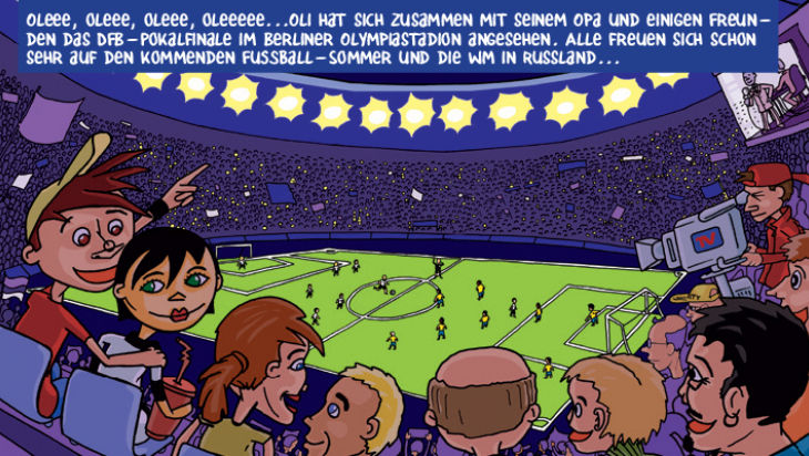 Oli im Fußballfieber; Grafik: Titus Ackermann