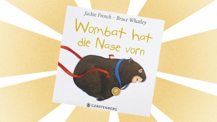 Kinderbuch: Wombat hat die Nase vorn / Cover: Gerstenberg Verlag