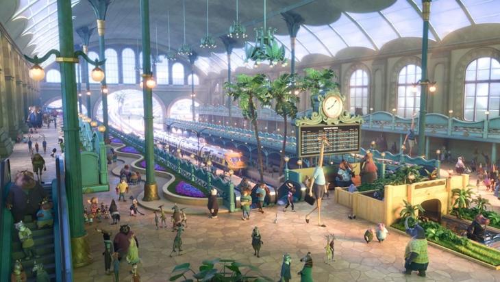 An diesem Bahnhof kommt Judy Hopps mit dem Zug in Zoomania an © Disney