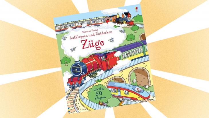 Kinderbuch Züge aufklappen und entdecken; Bild: Usborne