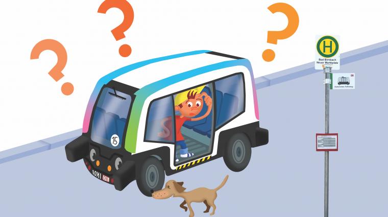 autonomer Bus / Illustration: DB AG/Titus Ackermann