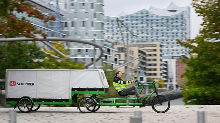 Lastenrad; Bild: DB Schenker / Max Lautenschläger
