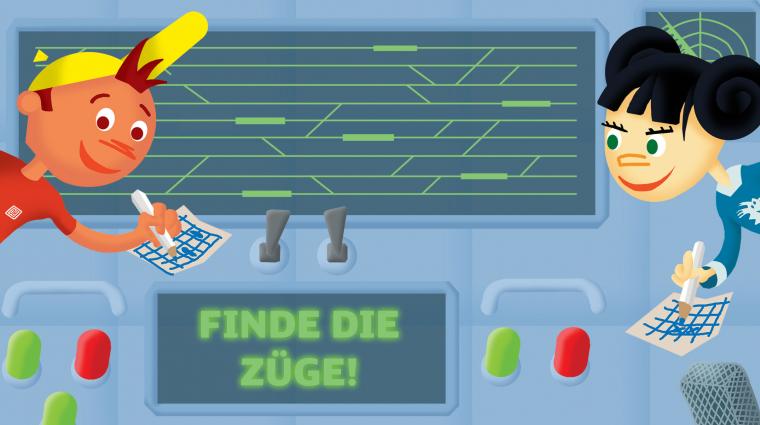 """Olis Bahnwelt: Spiel """"Finde die Züge!"""" © DB/Titus Ackermann"""