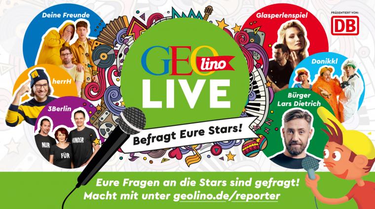 GEOlino LIVE – Befragt eure Stars; Bild: GEOlino, Grafik Oli: Titus Ackermann