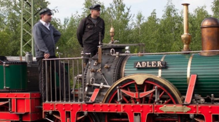 Adler im Kindermuseum der Deutschen Bahn
