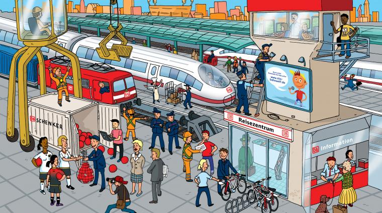 Berufe bei der Deutschen Bahn; Bild: DB AG / Titus Ackermann