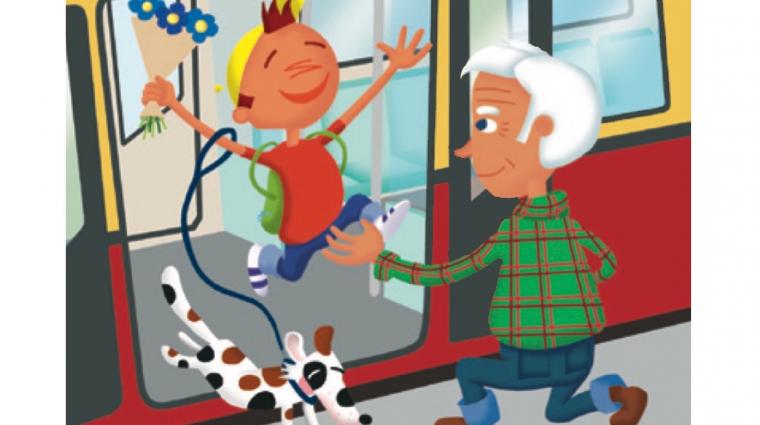 Oli fährt mit der S-Bahn zu seinem Opa; Bild: DB AG / Titus Ackermann