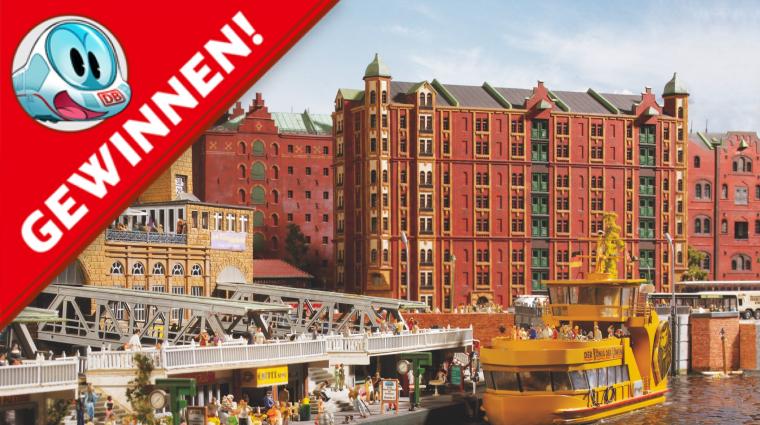 Ein Blick nach Knuffingen; Bild: Miniatur Wunderland Hamburg, Grafik: Sascha Wüstefeld
