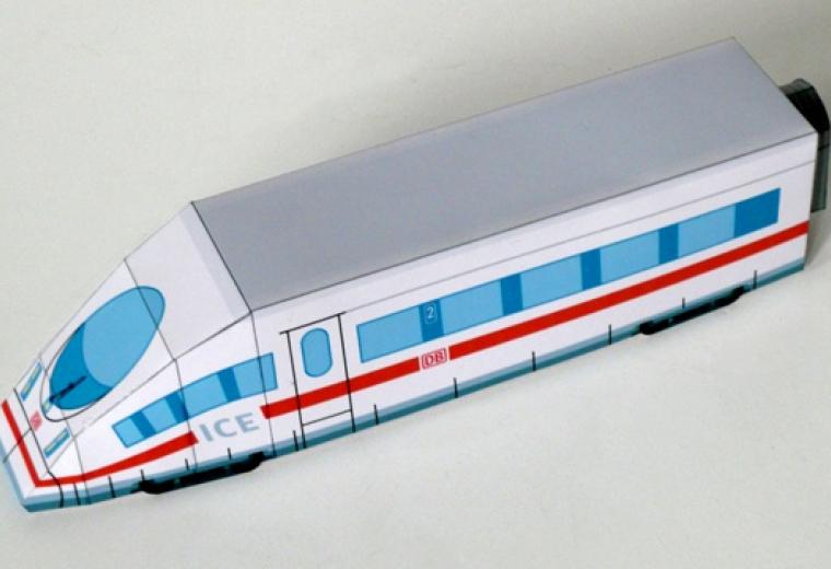 Volles basteln voran! Der ICE 3 aus Papier | Olis Bahnwelt