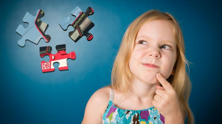 Mädchen, das eine Frage zur Bahn hat © Istock, Shutterstock, DB AG