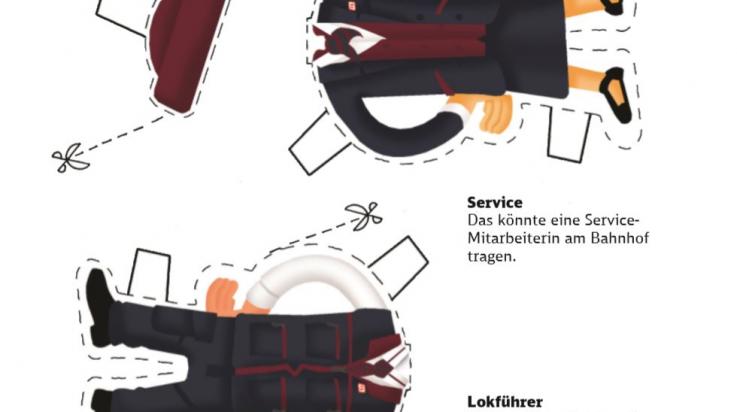 Neue Unternehmensbekleidung; Grafik: DB / Titus Ackermann