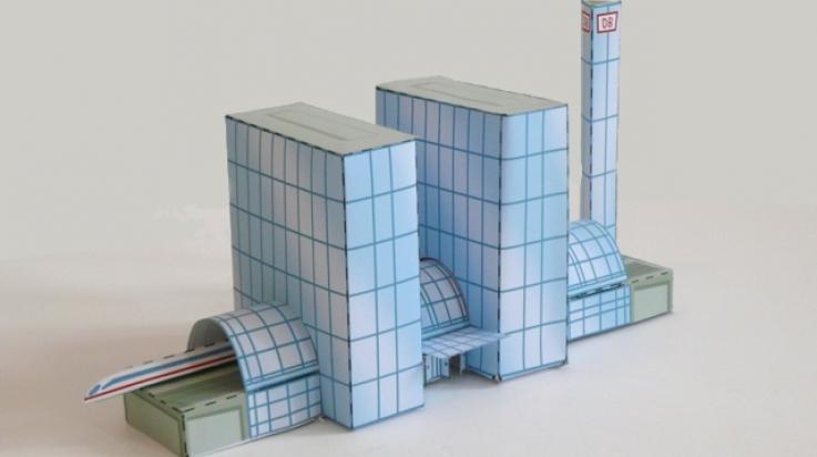 Der Berliner Hauptbahnhof aus Papier; Bild: Titus Ackermann