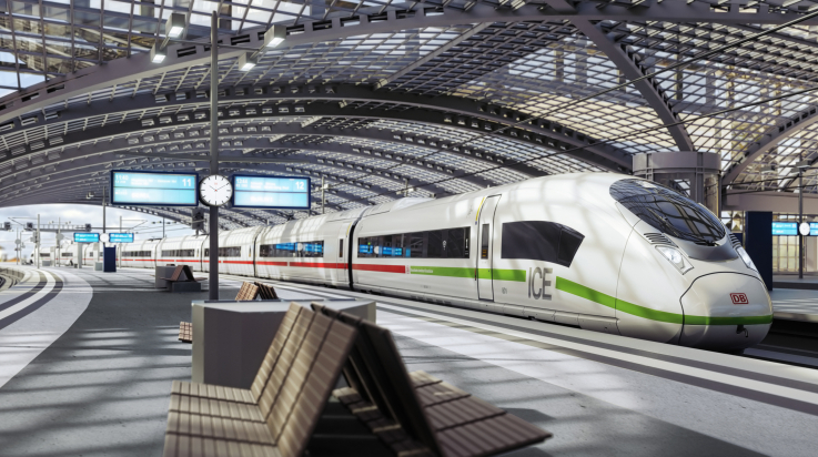 Simulation neuer ICE: Siemens / DB AG
