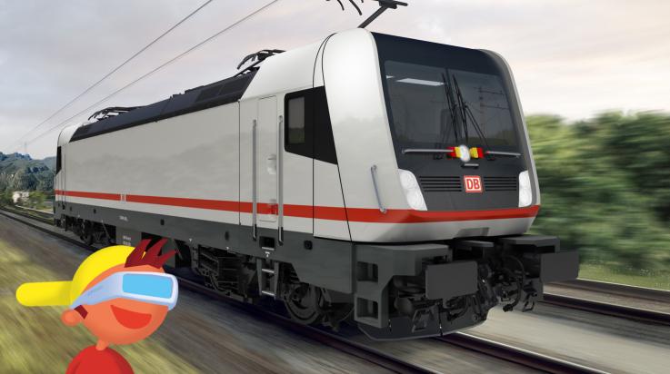 Der neue ECx / Bild: Deutsche Bahn AG/Tricon AG; Grafik: Titus Ackermann